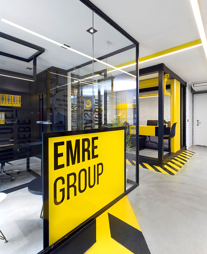 black yellow emre group office 30