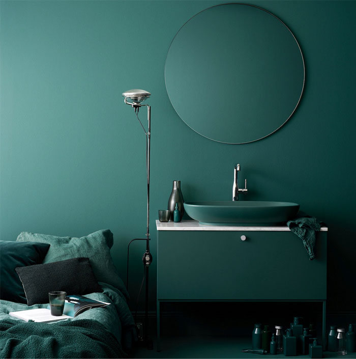 bathroom interior design trends green color