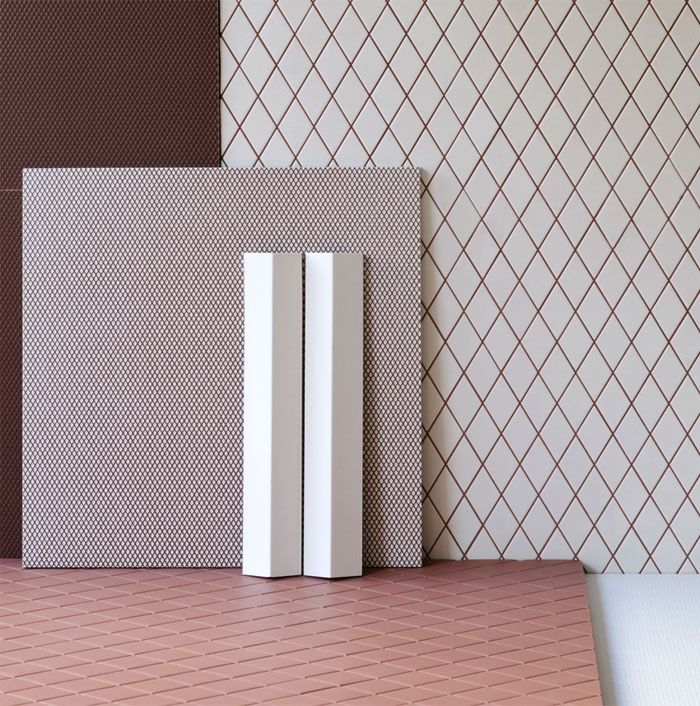 latest bathroom tile trends rhomboid patterns