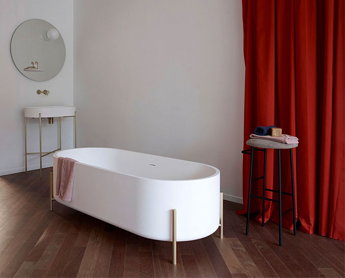 latest bathroom trends bathtub metal details