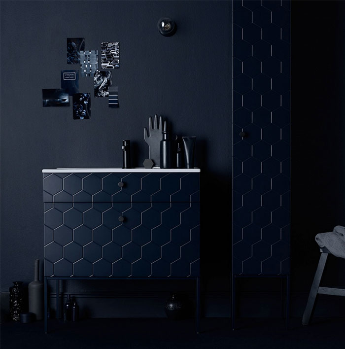 modern bathroom colors dark palette