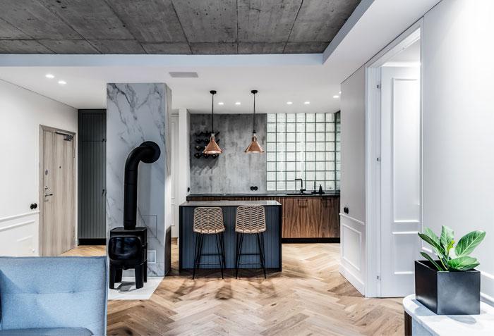 dizaino virtuve apartment interior 11