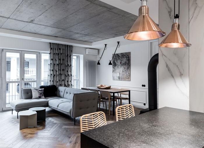 dizaino virtuve apartment interior 4