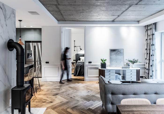 dizaino virtuve apartment interior 5
