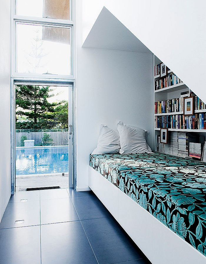 bed under stairs idea