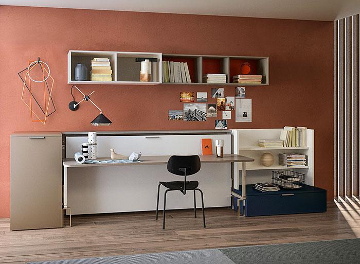 fold up bed desk kids bedroom