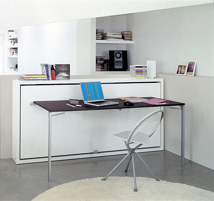 horizontal bed desk combo