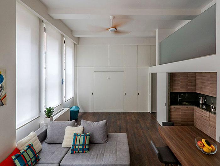 murphy bed white cupboard hidden living room