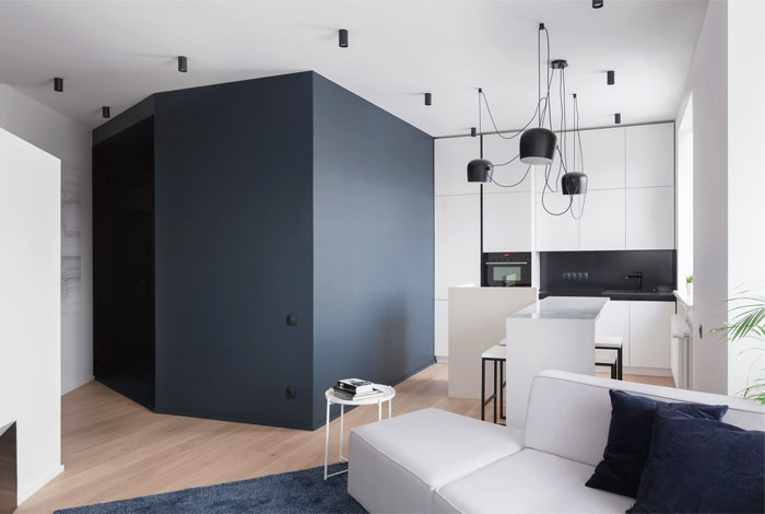one bedroom apartment moscow shkaf architects 2