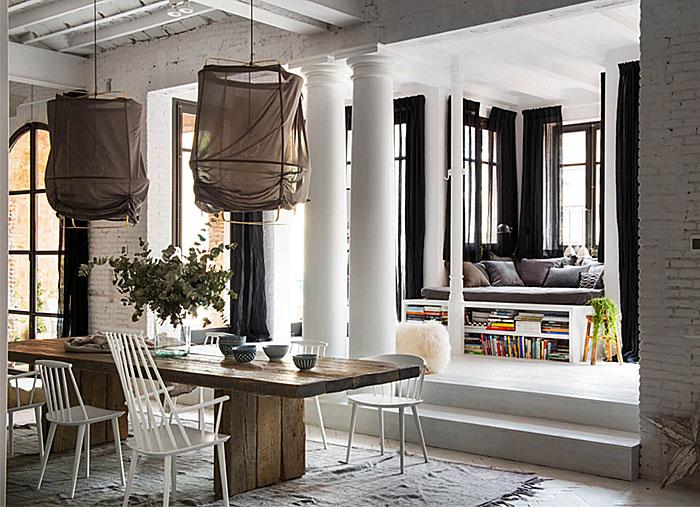 reading sleeping nook living room idea
