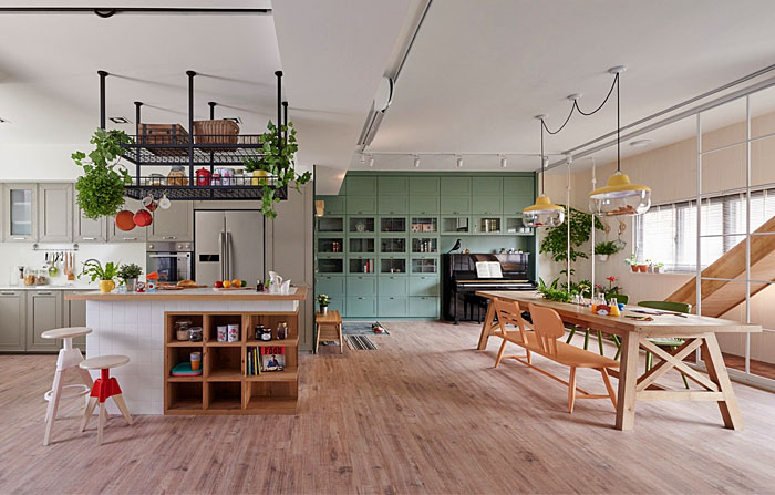 family friendly open plan kitchen living room