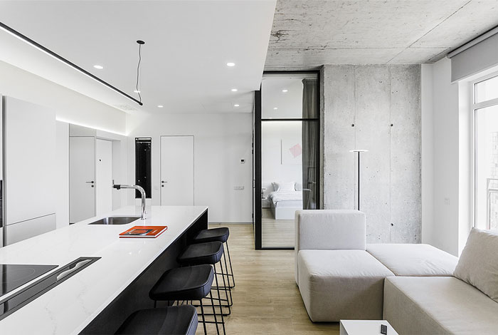 one bedroom apartment m3 architects 6