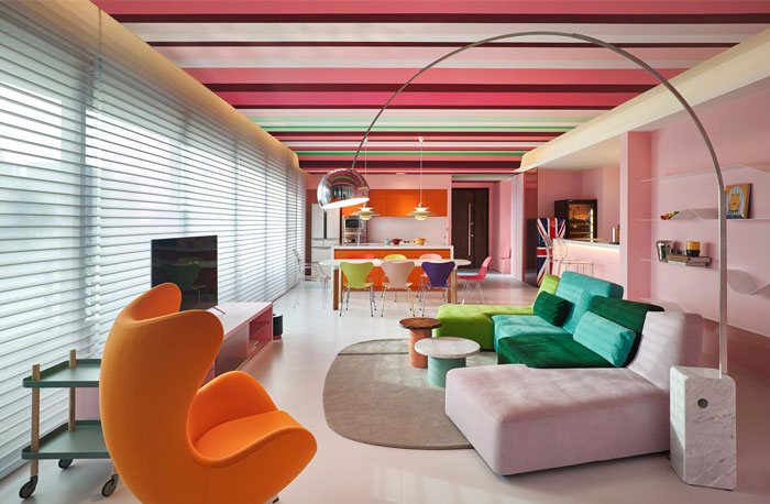 color concept for interior design layout