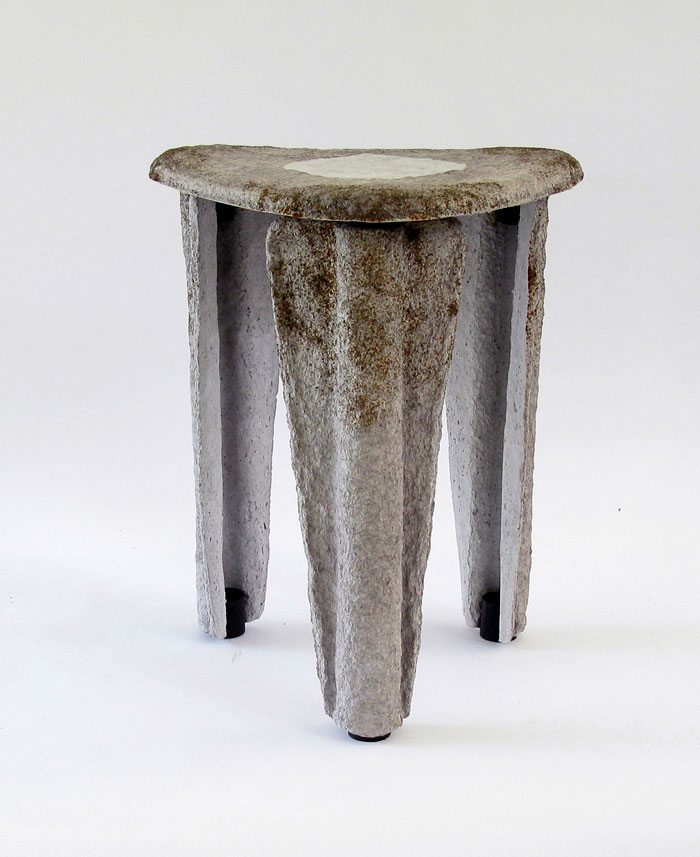 llegado stool made recycled paper 1