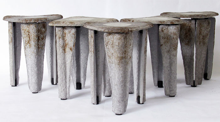 llegado stool made recycled paper 2