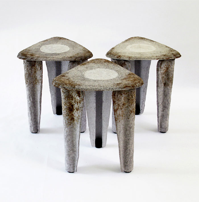 llegado stool made recycled paper 4
