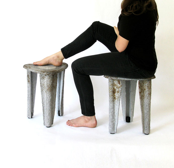 llegado stool made recycled paper 5
