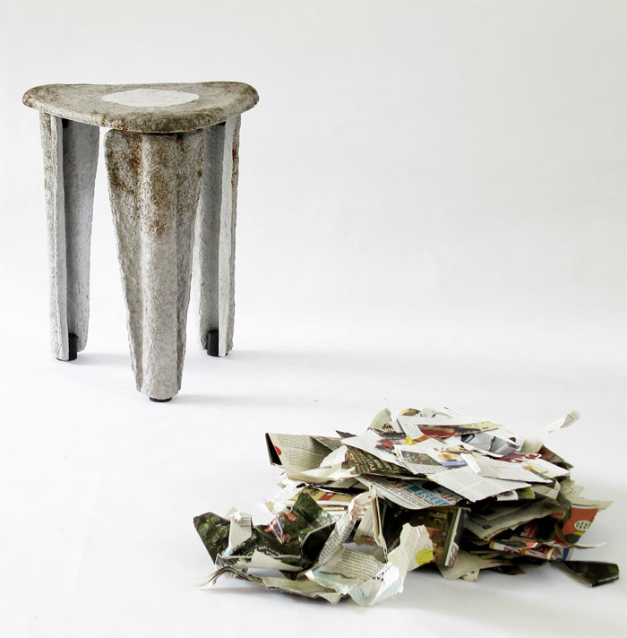 llegado stool made recycled paper 6