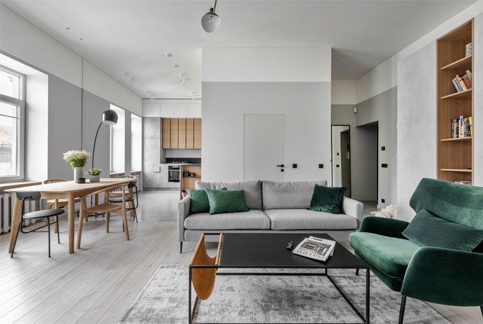Beautiful Open Concept Apartment By Me2 Architects