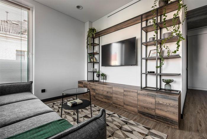 moss green color decor apartment interdio 1