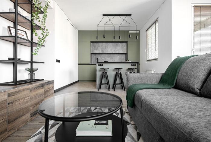 moss green color decor apartment interdio 11
