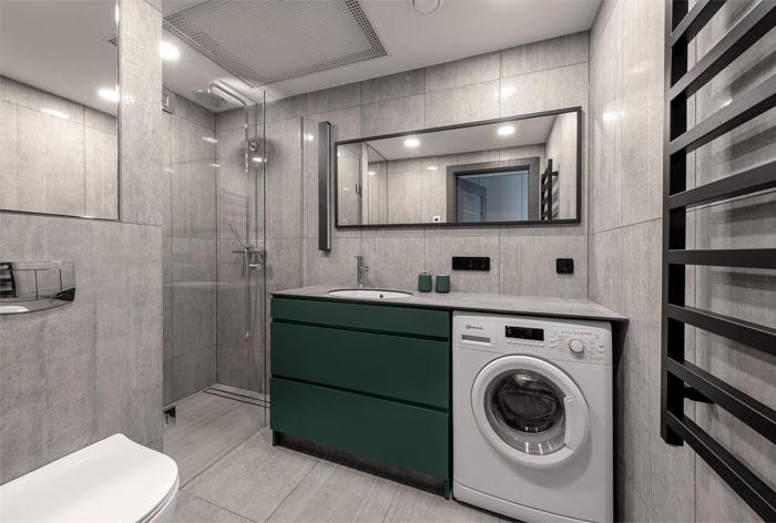 moss green color decor apartment interdio 13