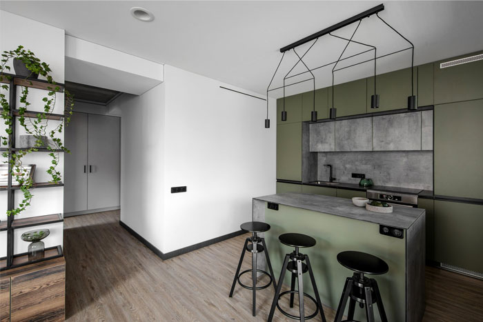 moss green color decor apartment interdio 2