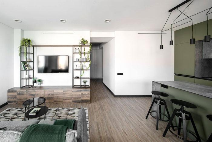 moss green color decor apartment interdio 23