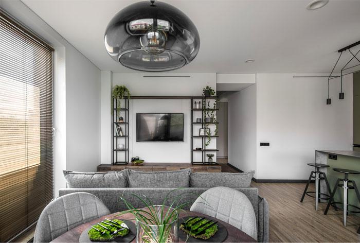 moss green color decor apartment interdio 6