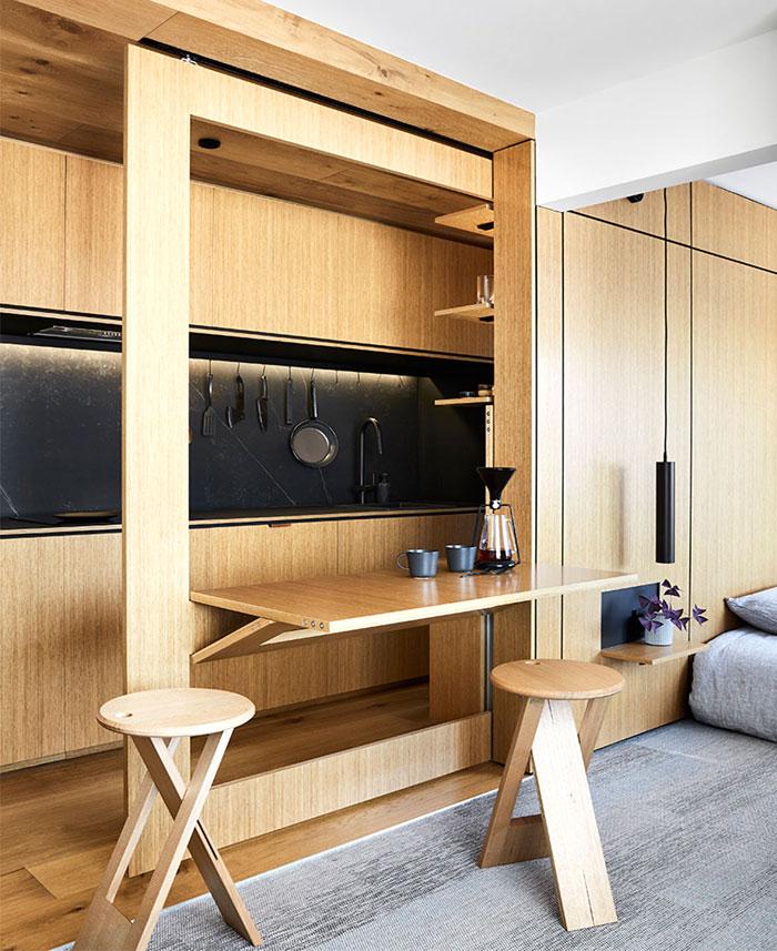 multifunctional design apartment 35 square meter 3