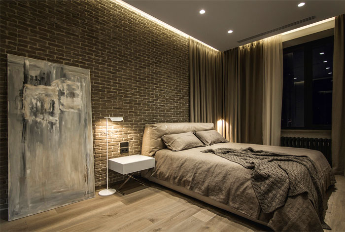 luxurious leather bedroom decor