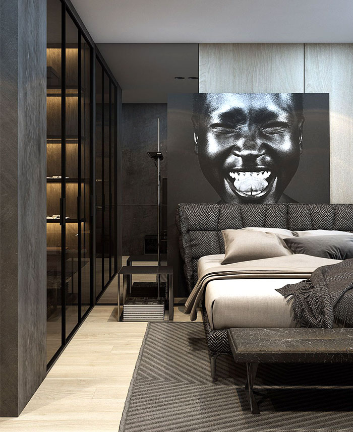 luxury bedrooms dark wall decor