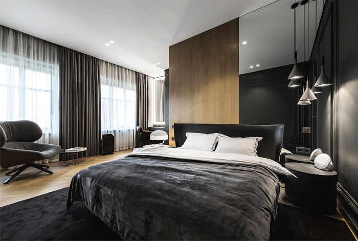 luxury modern men bedroom