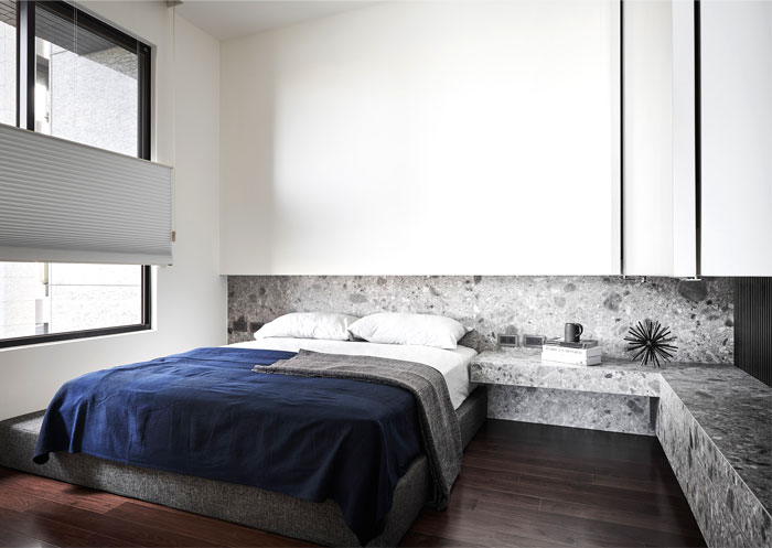 natural materials marble modern mans bedroom