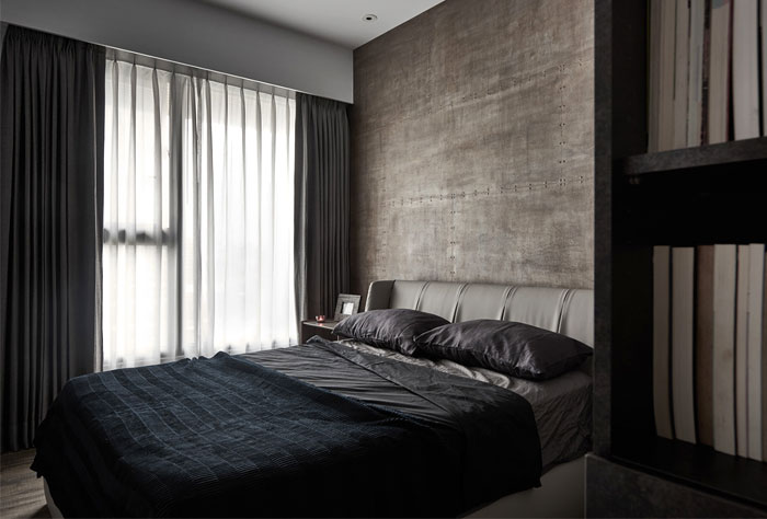 natural materials metal leather bedroom decor
