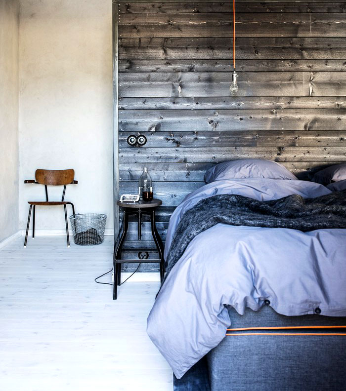 natural materials wood modern mans bedroom