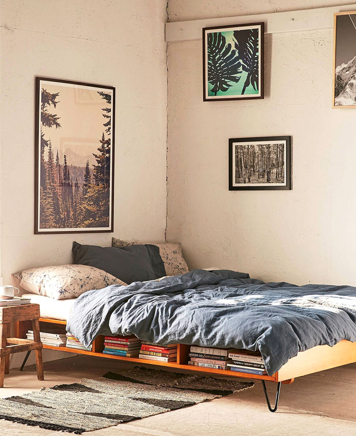 storage bed mens small bedroom