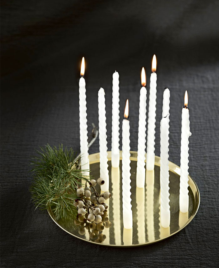 christmas decorating candles