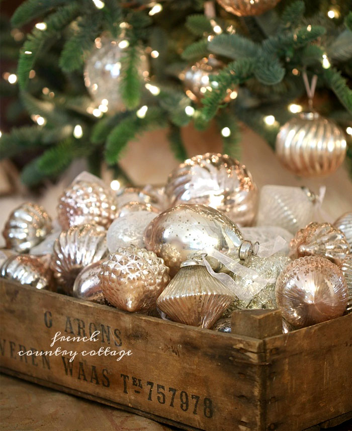 pearl glass christmas ornament