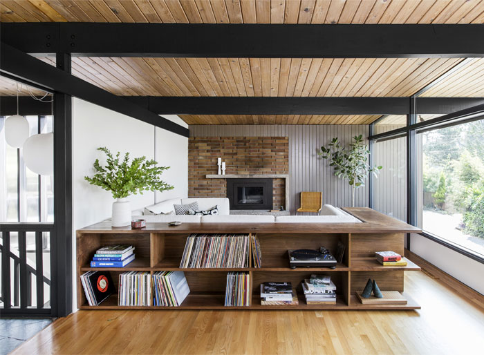 A Fresh Update For Hillside Midcentury By Shed