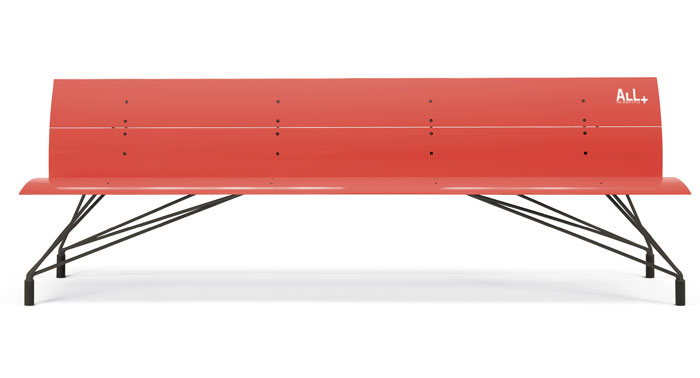 pantone living coral All benches4
