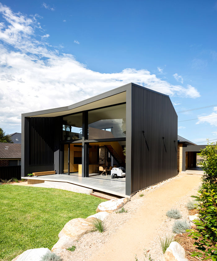yellow brick house extension christopher polly architect 1