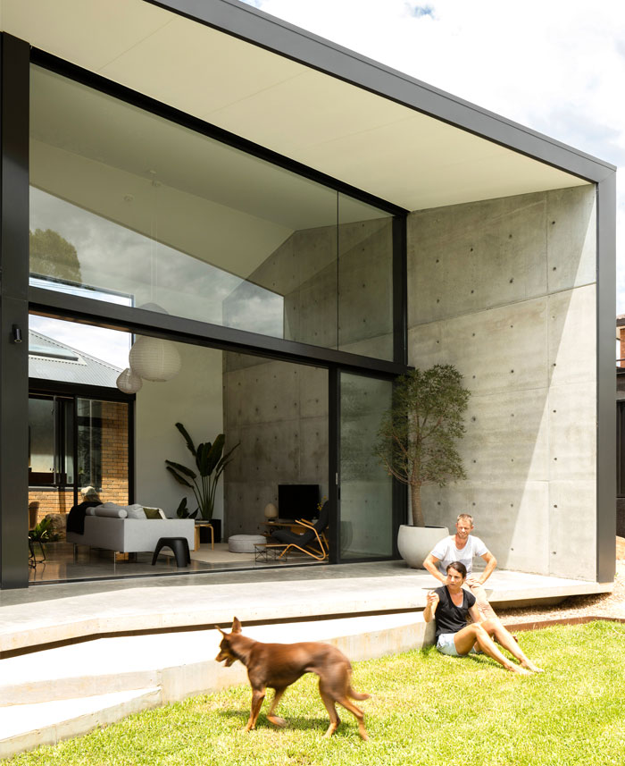 yellow brick house extension christopher polly architect 14