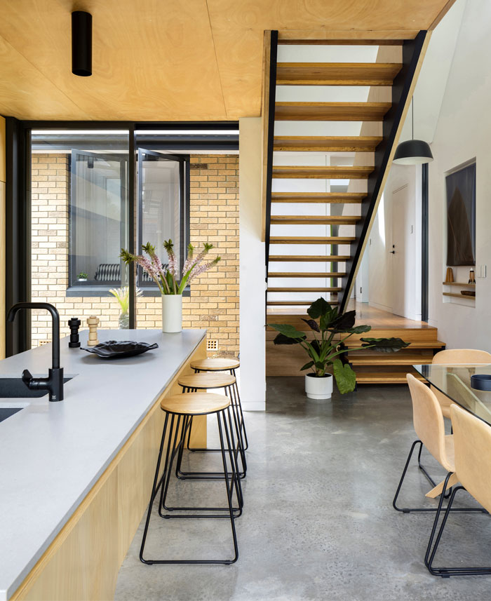 yellow brick house extension christopher polly architect 19