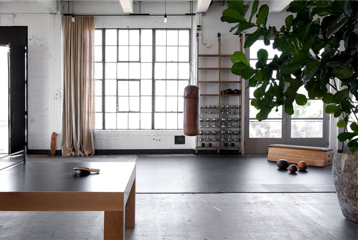 home gym minimal space dumbbells