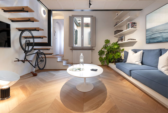 studio pierattelli architetture 50 sq m flat florence 6