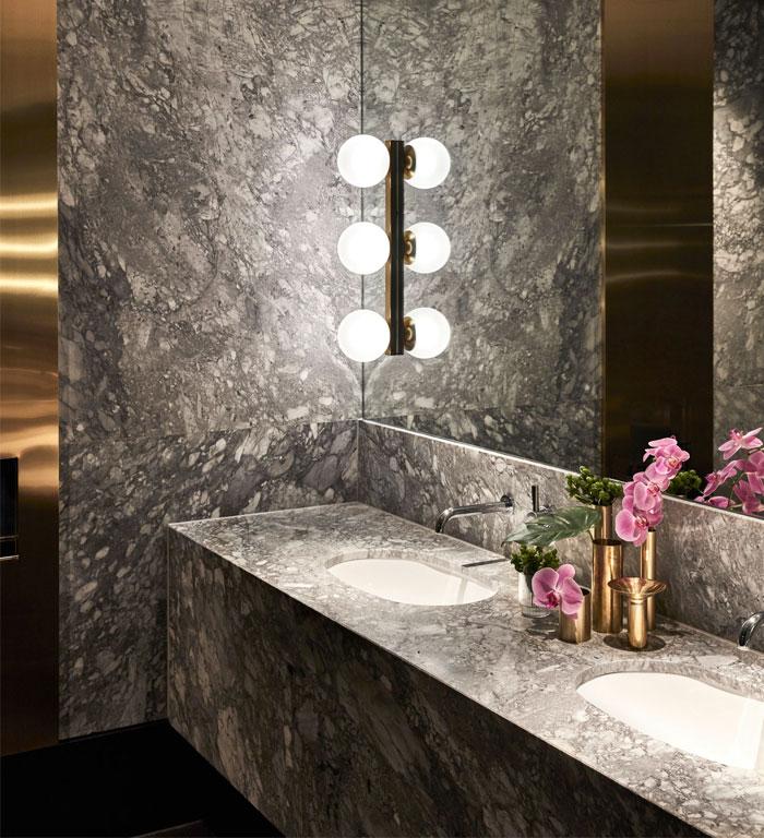 luxury marble brass bathroom decor