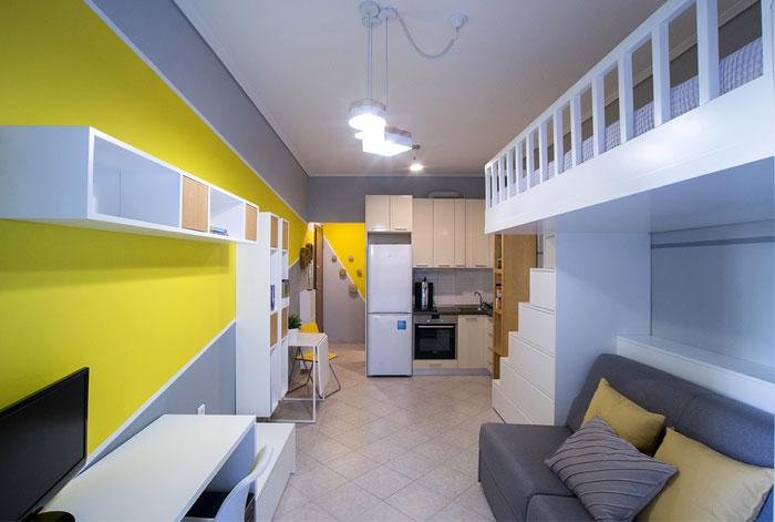 studio apartment Square Design Interiors 7