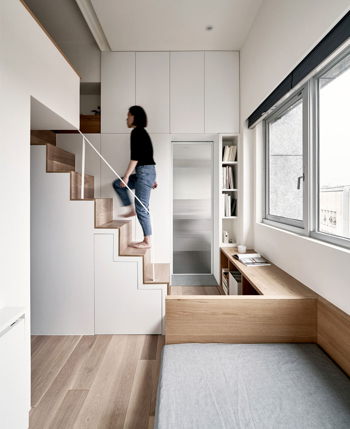 Micro Apartment with Space-Saving Furniture by A Little Design