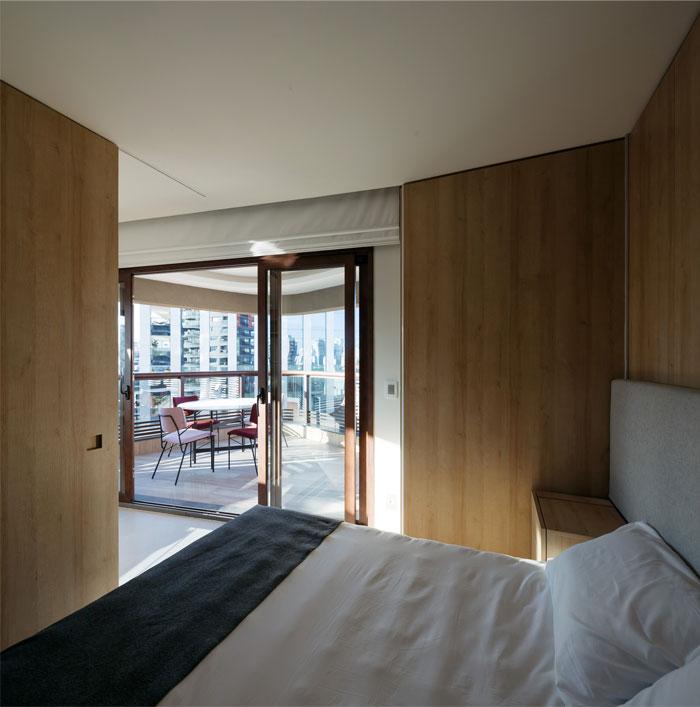 42 sq m open floor plan apartment Sao paulo 11